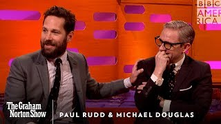 Paul Rudd's Weird Michael Douglas Prank - The Graham Norton Show