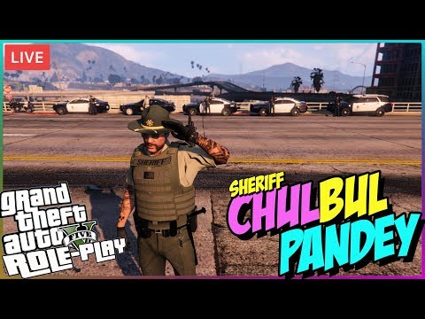 GTA 5 RP LIVE 🔴 Sheriff Chulbul Pandey is on duty 👮• GTA 5 Role Play
