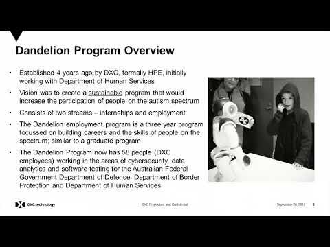 Autism@Work – Michael Fieldhouse, DXC.Technology