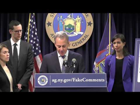 AG Schneiderman And FCC Commissioner Jessica Rosenworcel On Fake Net Neutrality Comments