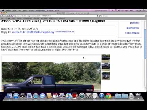 Craigslist Columbia Missouri Used Trucks, Cars And Vans - For Sale By Owner Offers