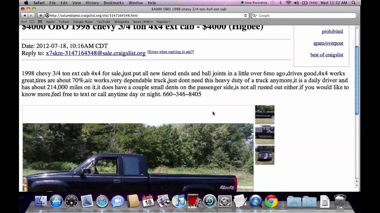 Craigslist columbia missouri used trucks cars and vans for sale by owner offers youtube