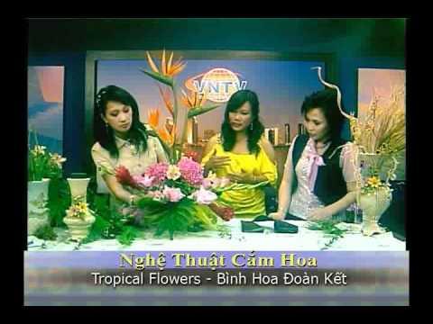 VNTV Flowers Arrangements  - Tropical Flowers: Bình Hoa Đoàn Kết VNTV