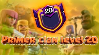 PRIMER CLAN EN NIVEL 20 / maomix clash of clans