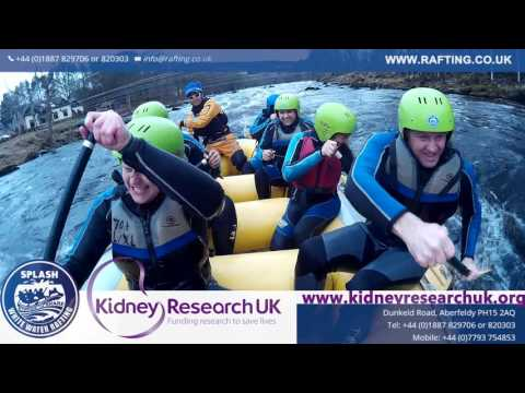 Kidney Research Charity Rafting Splash Cam