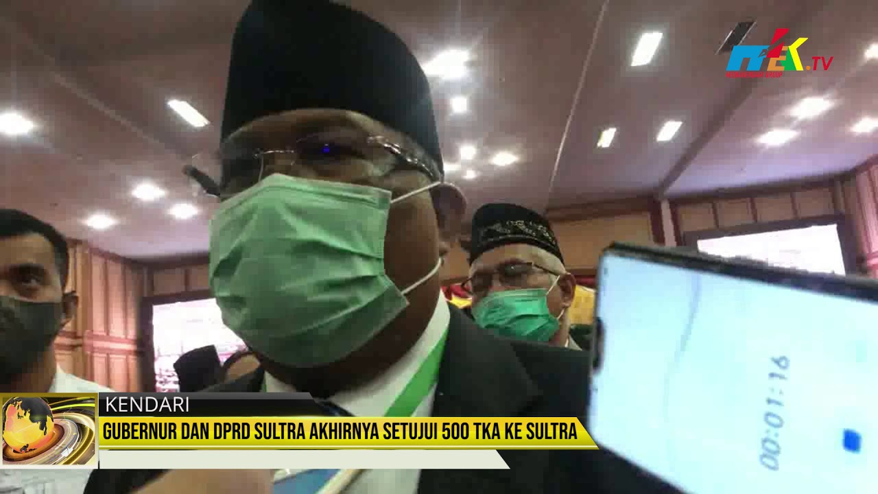 Gubernur dan DPRD Sultra Akhirnya Setujui 500 TKA ke Sultra