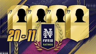 Fifa 18 player ratings from 20 to 11 - modric!?! - fifa 18 ultimate team #fifa18ratings