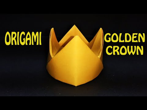 How to make an Origami GOLDEN CROWN -DIY origami tutorial by Magic Folds thumbnail