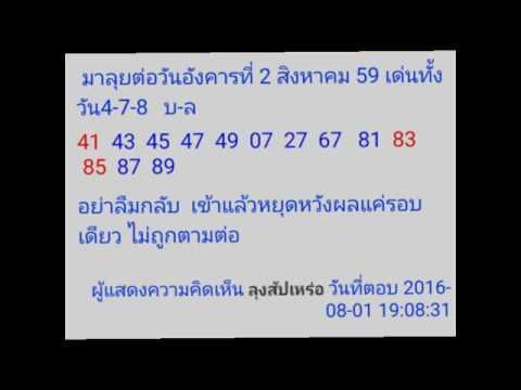 วิเคราะห์หวยหุ้น วันที่ 2/8/2559 (คอหวยหุ้น พิจารณากันเลย)