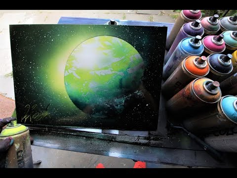 Green Planet SPRAY PAINT ART by Skech