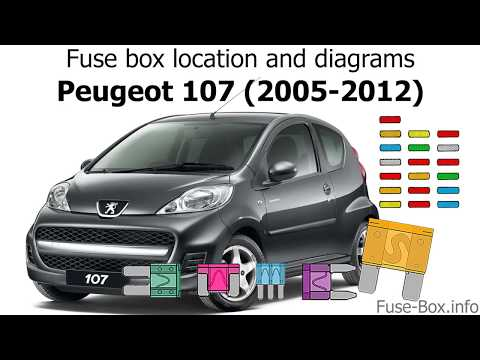 fuse box location and diagrams peugeot 107 (2005 2012) youtube Power Steering Pump Location
