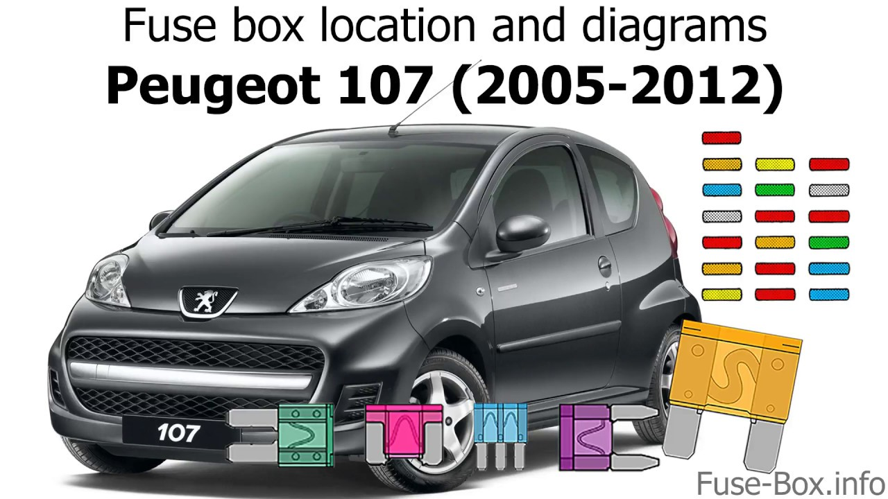 fuse box location and diagrams peugeot 107 2005 2012  [ 1280 x 720 Pixel ]