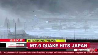 9.1 Earthquake Triggers Massive Tsunami Waves In Japan (03/11/2011)