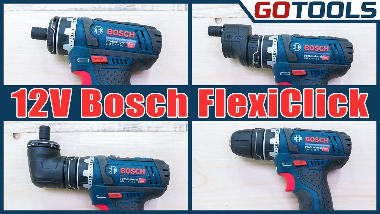 bosch akkuschrauber gsr 12v 15fc flexiclick der. Black Bedroom Furniture Sets. Home Design Ideas