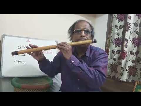 Bansuri lesson 9 (in English) on flute | Blowing & Fingering Indian bamboo murli