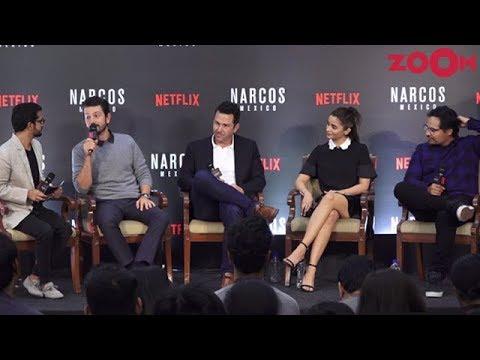 Alia Bhatt & others with cast of Narcos Season 4 Mexico Diego Luna, Michael Peña, Eric Newman