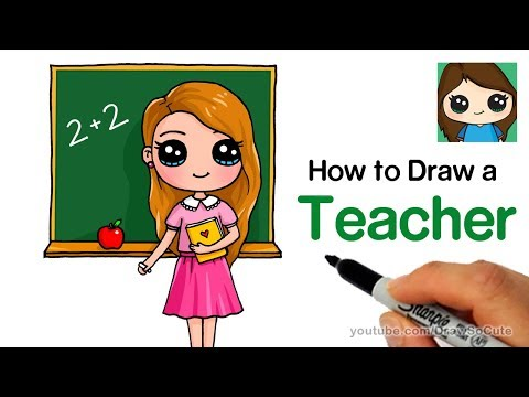How to Draw a Teacher Easy | Back to School