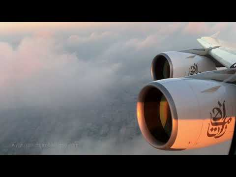 Emirates Airlines A380 - Take-off Engine-View (4K)