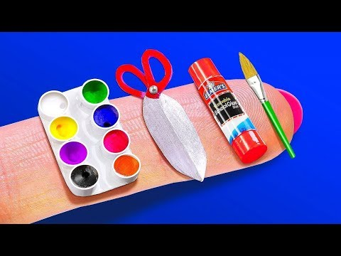 12 DIY BARBIE LOL DOLL CRAFTS and HACKS ~ Car, Guitar, Plaster and more