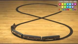 Железная дорога голубая стрела - паровоз, 3 пассажирских вагона
