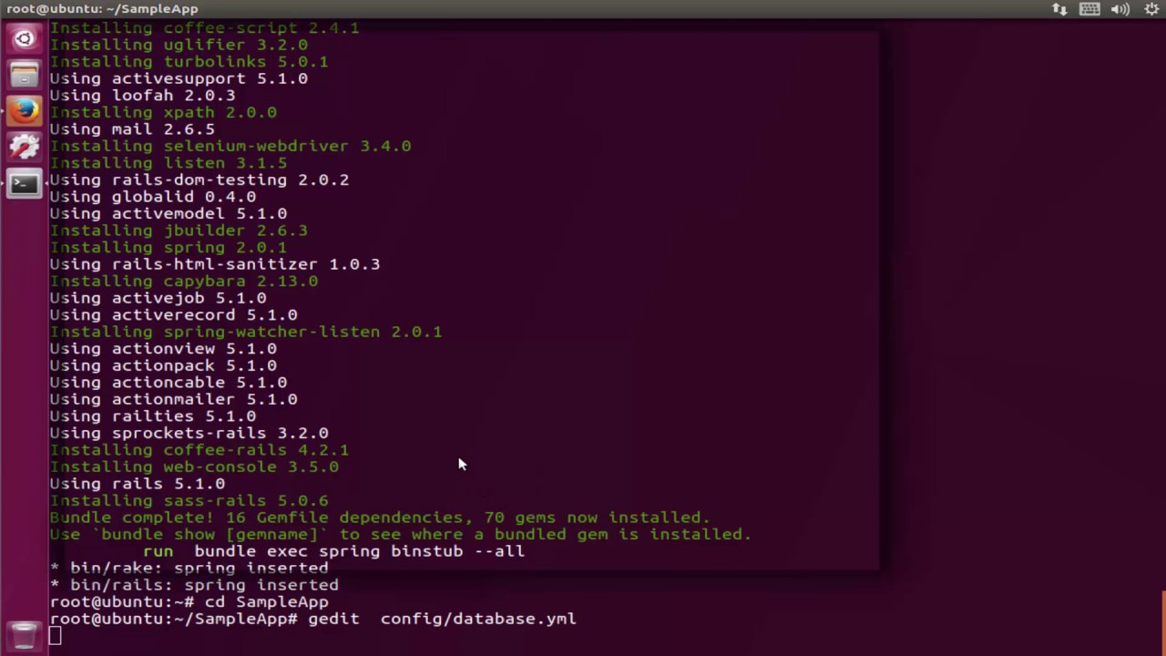 How To install Ruby on Rails 5 and Create a sample application on ubuntu  17 04