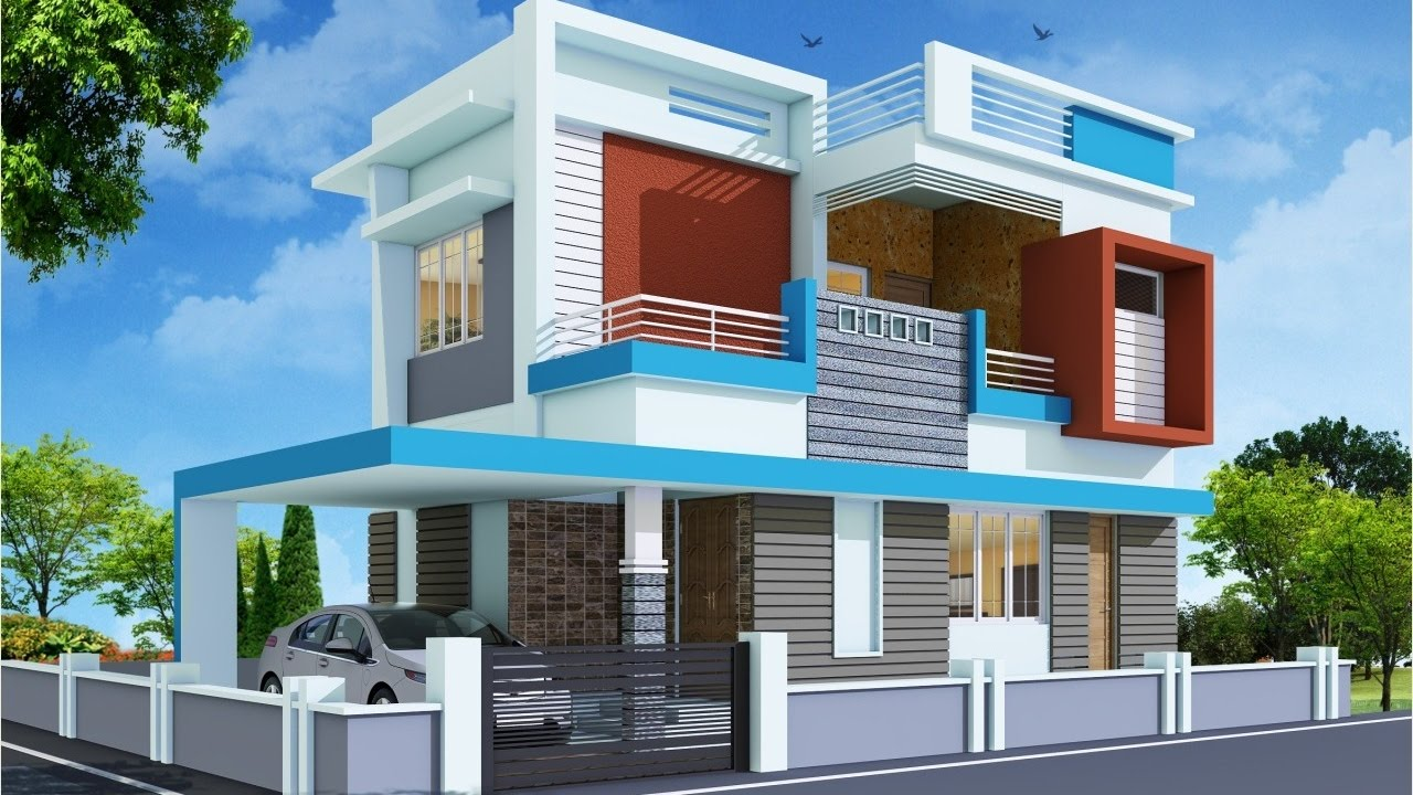 Front Elevation In 3ds Max : Architectural rendering exterior youtube