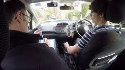Josh's mock driving test