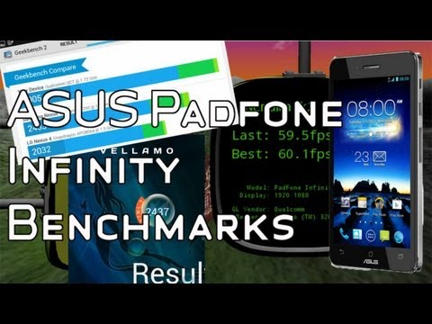 ASUS Padfone Infinity Benchmarks - Qualcomm Snapdragon 600