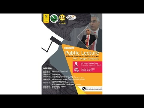 #LiveStreaming #PublicLecture UN Special Rapporteur on the Right to Privacy #sadarprivasi