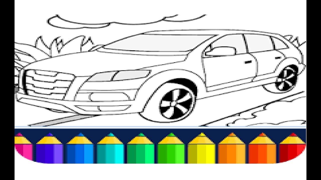juego de colorear carros para ni os juego coches colorante youtube. Black Bedroom Furniture Sets. Home Design Ideas