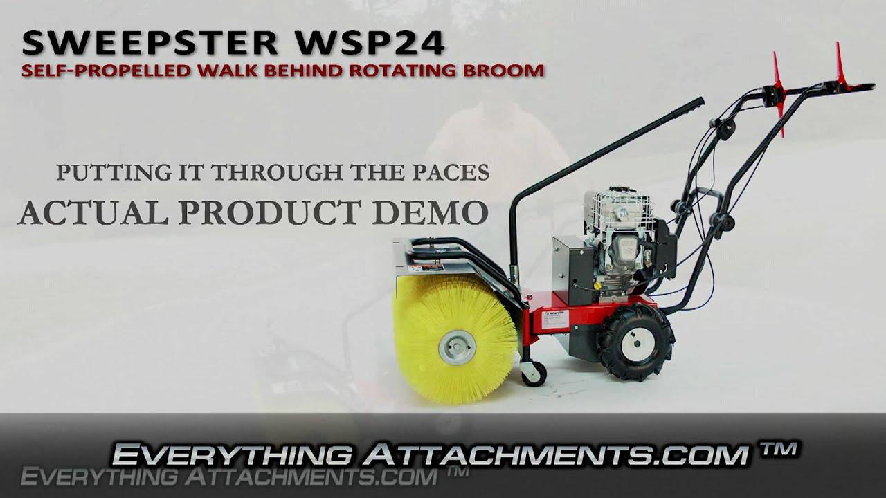 Sweepster Wsp24 Walk Behind Power Broom Youtube