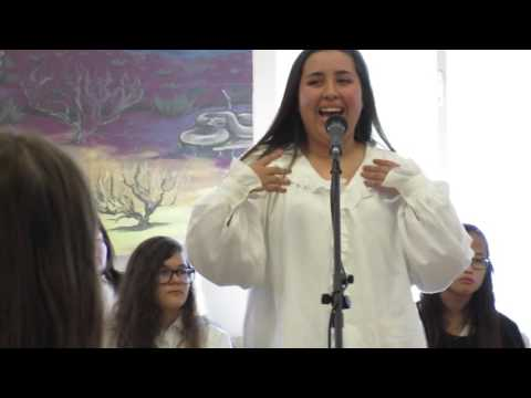 Kristin's first singing solo at Falcon Ridge Ranch in Utah