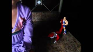 Kurt Angle making the Elf on The Shelf Tap out
