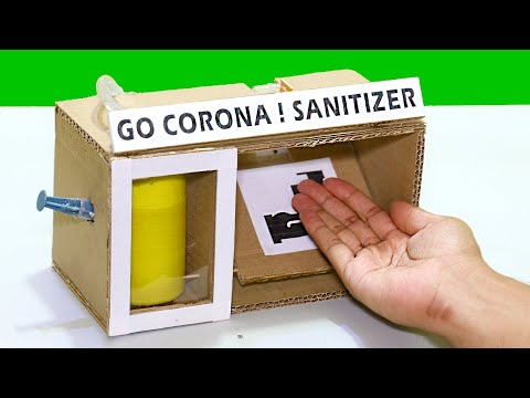 How to make Electric Hand Sanitizer Machine easy way | Science Projects