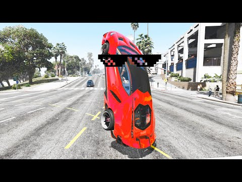 GTA 5 STUNTS & Wins, Fails Compilation (GTA 5 Epic Moments, Thug Life)
