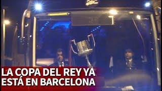 La Copa del Rey ya est en Barcelona Messi e Iniesta aclamados  Diario AS