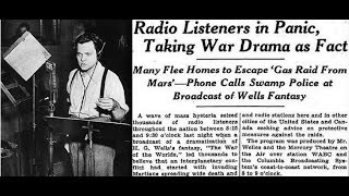 80th Anniversary of Orson Welles' War of the Worlds radio broadcast – with Erika Dowell