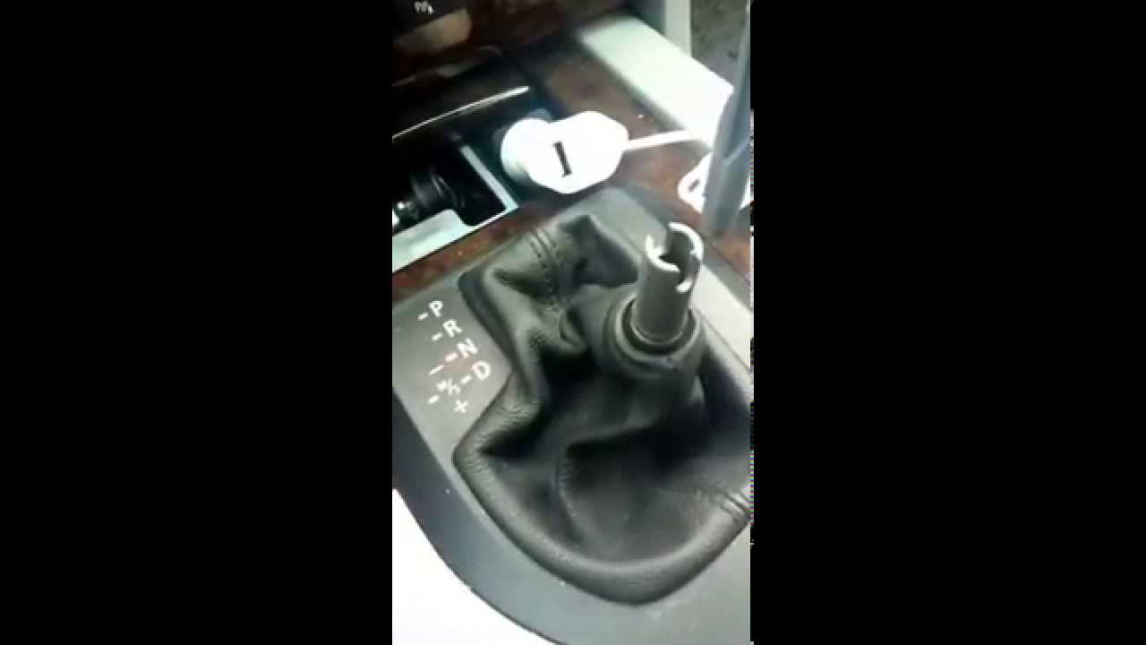 Tutorial: Smontaggio pomello cambio automatico Bmw - YouTube