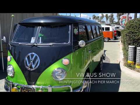 VW 🚌 Show Huntington Beach Pier 3/17/2018
