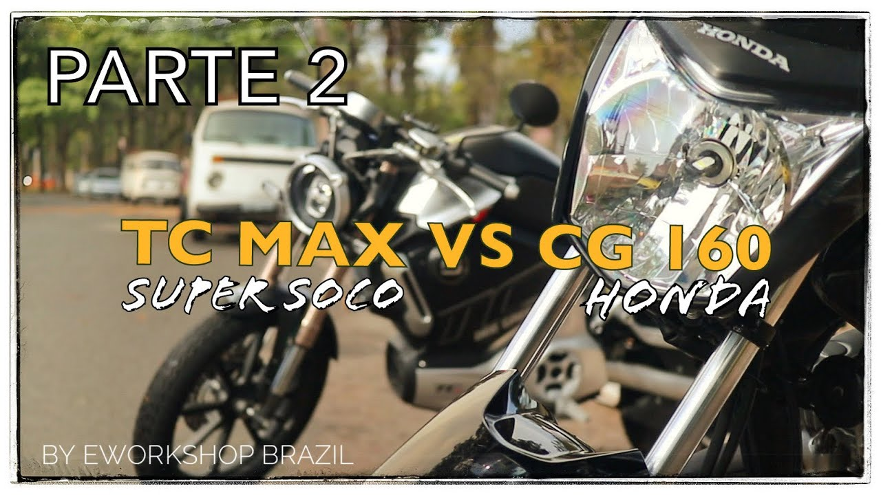 #2 Comparativo CG 160 vs Moto Elétrica Super Soco TC MAX - Parte 2/2 Custo