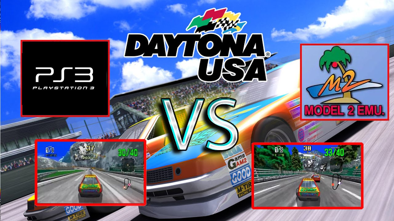 Daytona Usa Ps3 Vs M2 Emulator Youtube
