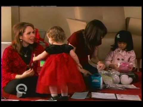 QVC host Sharon Faetsch and her daughter Christmas 2008