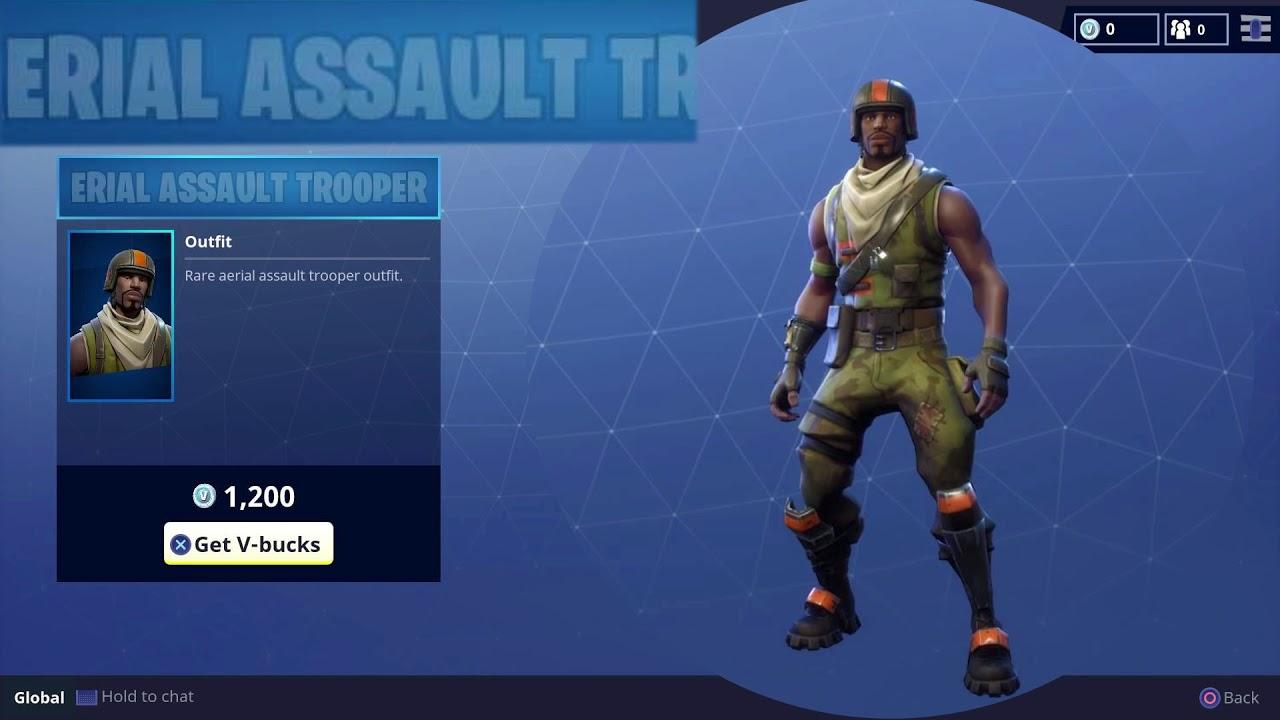 aerial assault trooper fortnite season 1 item - skin fortnite cheveux violet