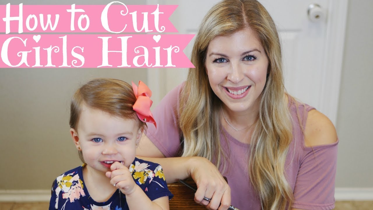 How To Cut Girls Hair Basic Girls Trim Haircut Tutorial Baby S First Haircut