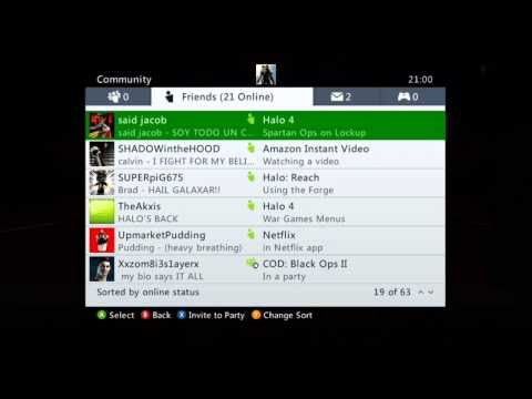Xbox 360 - People You want To Add As A Friend from YouTube · Duration:  1 minutes 40 seconds