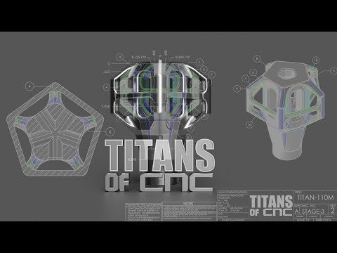 Learn to Draw the 5 Axis 3D Model - TITAN 110M