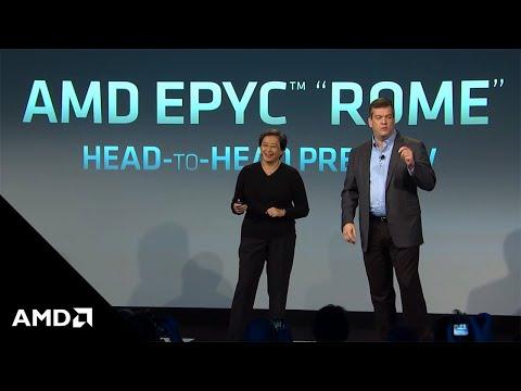 "AMD Next Horizon: AMD EPYC™ ""Rome"" Server Processor C-Ray Demo"