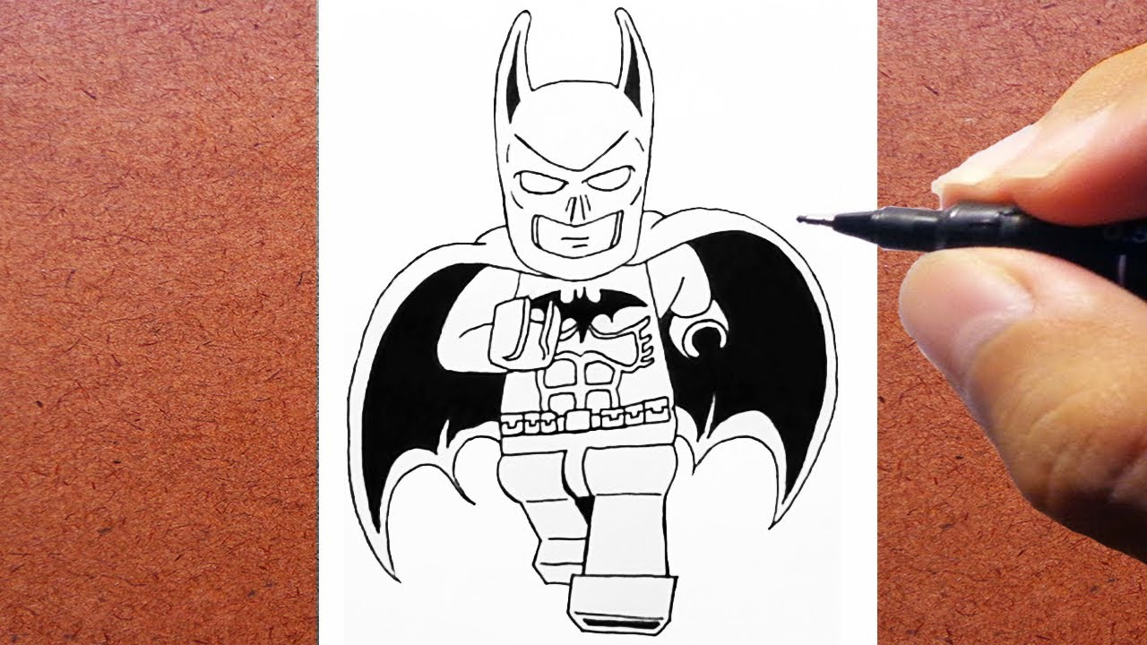 Como Desenhar O Lego Batman How To Draw Youtube