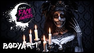 CRYSTAL-Raven-Skull Facepainting (inspired by THE RAVEN by Edgar-Allan-Poe) || #faceawardsgermany