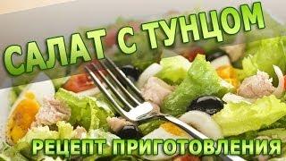 Рецепты салатов. Салат с тунцом простой рецепт приготтовления